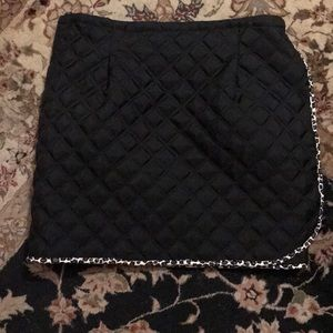 Vintage quilt wrap skirt leopard trim